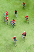 Group of Cyclist in Car Free Day,Bangkok,Thailand. — Stock Photo