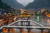 Twilight scenery of the Phoenix town ( Fenghuang ancient city ). — Zdjęcie stockowe