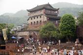 View of Bastion and the old city wall of Fenghuang ancient city. — Stock Photo