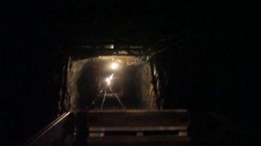 Riding Mine Car with Audio — Стоковое видео