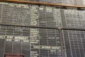 Cotton Exchange Tote Board — Stock Photo