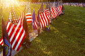 Sunlight on Soldiers Graves at Gettysburg — Stock Photo