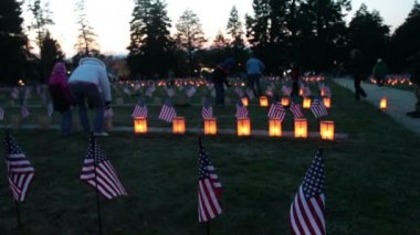 Candle Lighting at Gettysburg Luminary — Stock Video