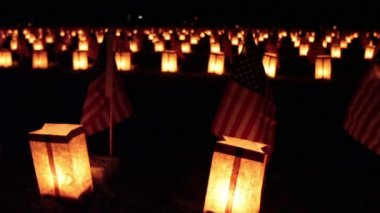 Gettysburg Luminary — Stock Video