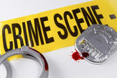 Blood on the Crime Scene — Stock Photo