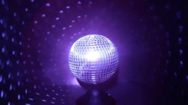 Disco Ball with Blue Lights — 图库视频影像