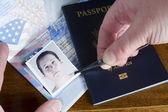 Forging Passport Picture — Stock Photo