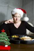 Christmas Dinner Alone — Stock Photo