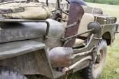 Vintage WWII Jeep with Tools — Stock Photo