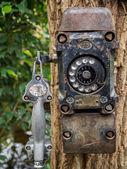 Closeup of antique telephone — Stock Photo