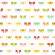 Cute seamless colorful pattern with bows — Stock Vector #70390989