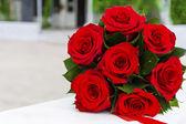 Букет красных роз — Стоковое фото