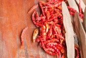 The Dried Chilli (chili, chilli, food) — Stockfoto