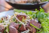 Stir fired bean sprouts with Soy Sauce — Stock Photo