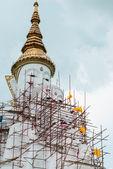 Big white buddha image statue — Stock Photo