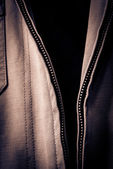 Open Jacket Zipper Pull Detail — Stock Photo