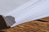Stack of a4 size white paper sheet — Stock Photo
