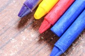 Old crayons for painting — Stock Photo