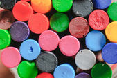 Old crayons color — Stock Photo