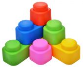 Set of plastic pieces constructor — Stock Photo