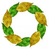 Cornice decorativa con foglie d'oro — Foto Stock