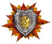 Family coat, shield emblem — 图库照片