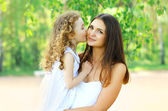 Lovely mother and daughter, happy family — Stok fotoğraf