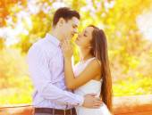 Sensual sweet couple kissing summer, date, love, relationships - — Stock Photo