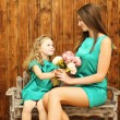 Mother's day, holiday, christmas, birthday concept - beautiful m — Stock Photo #57097499