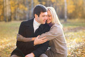 Autumn, love, relationship and people concept - happy pretty you — Stock fotografie
