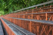 Wood grandstand — Stock Photo
