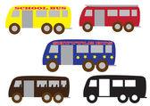 Bus set — Stock Vector