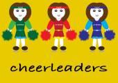 Cheerleader set — Stock Vector