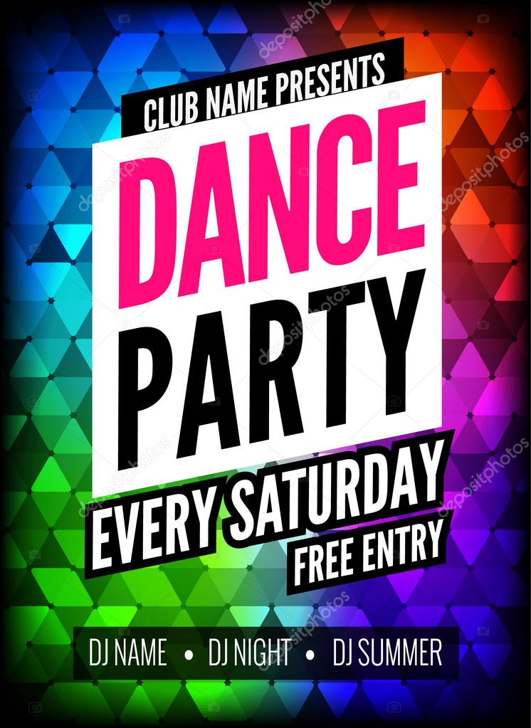 dance party poster template night dance party flyer club