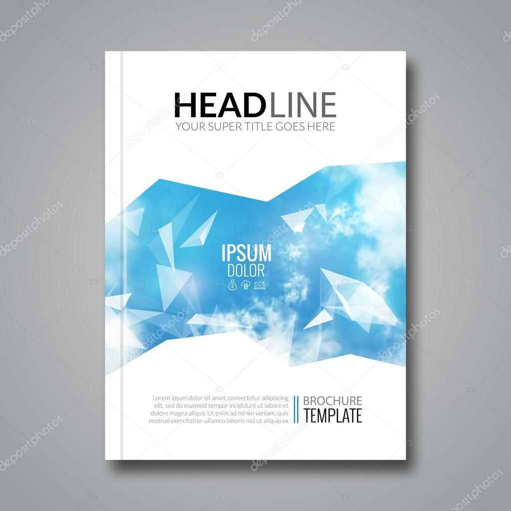 Business Deposit Book Cover ~ Cover report business triangle polygonal sky clouds design