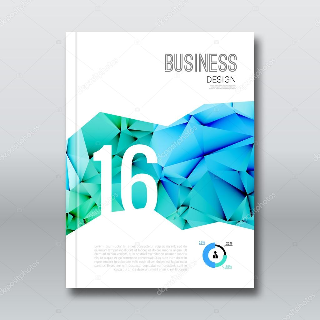 business design cover magazine brochure book background aqua business design cover magazine brochure book background aqua marine triangular annual report design template vector illustration stock illustration
