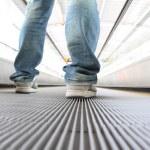 Walking on Escalators Moving way — Stock Photo #69073985