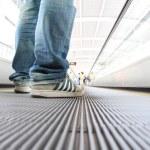 Walking on Escalators Moving way — Stock Photo #69074115