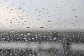 Rain fall on glass — Stock Photo