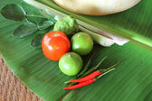 Thai vegetable and egg for cooking — Stock Photo