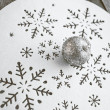Christmas decoration on wooden table (vintage color toned image) — Stock Photo #58649081