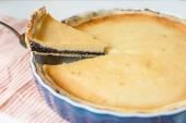 Poppy seed cream tart — Stock Photo