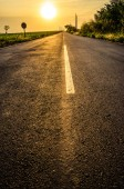 Road and the Sunrise — Foto Stock