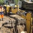 Постер, плакат: The production of excavation works for the elimination of leakag