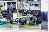 ボクシング チーム メルセデス。ロズベルグ Erik t 車の準備 — ストック写真