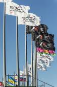 Flags at Sochi autodrom. — Stock Photo