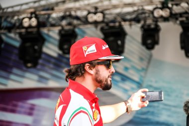 Selfie Fernando Alonso at the autograph session