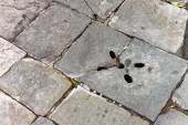 A pothole in a road. — Stock Photo