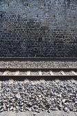 Detail of a Swiss railway — Stock Photo