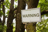 Warning sign indicating in the countryside — Stockfoto